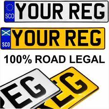 SCO euro & Scottish Saltire pressed number plates metal car SCOTLAND Road Legal