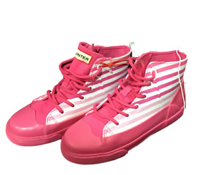 Hunter for Target Kids' Striped Dipped Canvas High Top Sneakers Pink Size 3  NWT