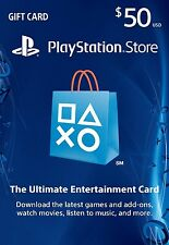 PLAYSTATION NETWORK CARD 50$ | PSN CODE | USA STORE | PS3 - PS4 - PS VITA