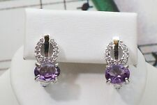 Beautiful Natural Amethyst With 925 Sterling Silver Earrings. SSER0033
