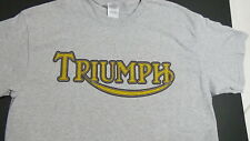 BRAND NEW TRIUMPH MOTORCYCLES T-SHIRT bsa vintage@hot rod speed cafe@racer style