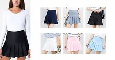 Women Girl Slim Thin High Waist With Safety Pants Pleated Tennis Mini Skirts UK