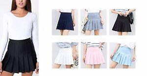 Women Girl Slim Thin High Waist With Safety Pants Pleated Tennis Mini Skirts UK