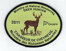 2011 ONTARIO MNR DEER HUNTER PATCH-MICHIGAN DNR DEER-BEAR-MOOSE-ELK-CREST-BADGE