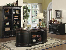 Nicolas 3 Piece Traditional Home Office Executive Set in Two Tone Finish by Coas