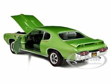 1969 PONTIAC GTO JUDGE GREEN 1/18 L.E.1 OF 1000 PRODUCED BY AUTOWORLD AMM960