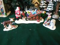 "Dept.56 Snow Village Lot ""Santa Comes To Town,1996"""