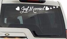 Just Married Decals Wedding Day Car Window Banner Sticker Sign