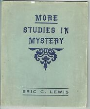 More STUDIES IN MYSTERY Eric Lewis Magic Tricks Instruction Demon 1941 Vintage