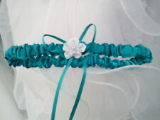 1 jarretière satin mariage  coloris vert turquoise : LIVRABLE DE SUITE