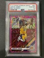 Lebron James 2019-20 Optic Pink Velocity #'d /79 - PSA 10 - Low POP 12 🔥