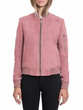 BAGATELLE.CITY Suede Stand Collar Bomber,lip lacquer / PINK Size : M