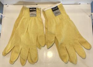 2 Pair DuPont Kevlar String Knit Work Gloves Cut Resistant MCR Safety Medium