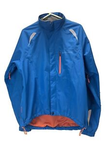 Endura Waterproof Cycling Jacket Reflectors Pocket size Large Blue