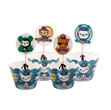 Kids Octonauts Theme Birthday party Cupcake Decor 12Pcs Wrappers &12Pcs Toppers