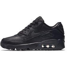 Schuhe Nike Air Max 90 Ltr (Gs)833412-001 schwarzes Leder Jungs Turnschuhe Sport