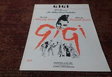 Gigi by Lerner and loewe 1961 MGM movie sheet music EX