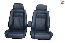 2 Recaro ergomed cuero azul oscuro mercedes r107 w124 asientos asientos deportivos apoyabrazos