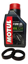 SUZUKI GSXR 600 04-05 K4 K5 FORK OIL SEALS & 1LTR MOTUL 10W FORK OIL