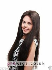 100% Real Hair! Fashion Virile Long Dark Brown Straight Wig For Women Human Hair
