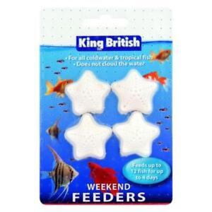 KING BRITISH WEEKEND HOLIDAY FISH FOOD BLOCK GOLDFISH TROPICAL SELF FEEDER