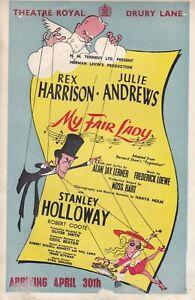 """My Fair Lady""Theatre Royal Drury Lane London- Opened 30 April 1958"