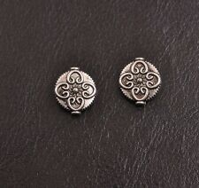 20/50/100Pcs Tibetan Silver flowers Charms Spacer Beads Jewelry 13X3MM A3088