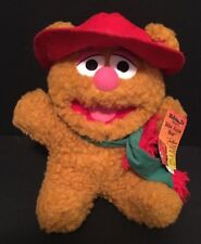 "Vintage 1988 McDonald's 10"" Muppets Fizzle Bear Plush Toy w/ Tags Jim Henson"