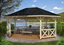 Gartenpavillon Betty 5 Durchmesser ca. 615 cm Pavillon Holzpavillon Holz 12x12