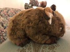 "NEW RARE MINKPLUSH Russell the Wombat Plush 12"" Mink Plush Realistic NWT #Z7"