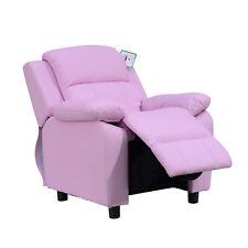 HOMCOM Kids Children Recliner Lounger Armchair Games Chair Sofa Seat PU Leather