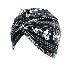 Womens Cotton Ruffle Hats Beanie Floral Cancer Chemo Scarf Turban Head Wrap Cap