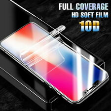 For iPhone XS XR X 8 7 6s Plus 10D Hydrogel Film Full Coverage Screen Protector