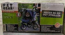 New listing Pet Gear No-Zip Jogger Pet Stroller for Cats/Dogs, Zipperless Entry, Blue