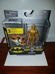 DC The Caped Crusader The Joker Variant Gold Action Figure Creature Chaos