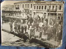 WW2 original press photo unloading ship Tripoli Docks.