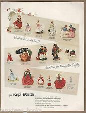 1954 ROYAL DOULTON advertisement, Doulton figurines for Christmas