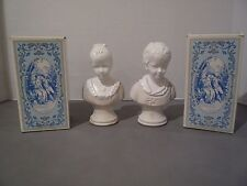 Vtg Avon 18 Century Classic Figurine Young Girl & Boy Original Box