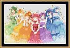 Rainbow Girls Cross Stitch Kit