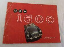 Original Prospekt Broschüre MGA 1600 Faltblatt