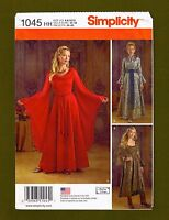 Medieval Dress or Queen Gown Costume Sewing Pattern (Sizes 6-12) Simplicity 1045