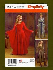 Simplicity Sewing Pattern 1045~Renaissance/ Medieval Fantasy Gown Cosplay (6-12)