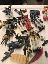 Gundam Action Figures Parts Lot Incomplete Pieces Figures Weapons Accessories