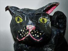 Cool OOAK Paper Mache Black CAT Figurine Art by AnnaMarie