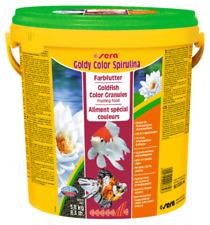 Sera Goldy Color Spirulina 3.8Kg 10L Goldfish Granules Floating Fish Food