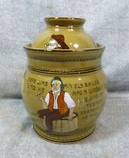 Antique Buffalo Pottery Deldare Old Sailor Tobacco Humidor