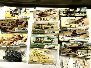 10 Super-vtg. Airfix 1/72 Bagged Planes —8 Different Planes, All Sealed !