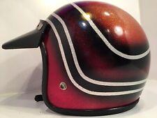 VTG Rare Metallic Retro Hondaline (?) Motorcycle Helmet 1974 Medium (custom?)