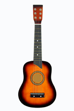 "Mini Acoustic Guitar, Home Decor or Wall Art - ""Sunburst"" Color"