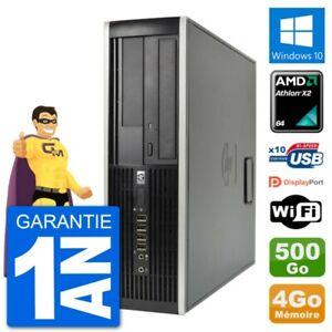PC HP 6005 SFF AMD Athlon II X2 B24 RAM 4Go Disque Dur 500Go Windows 10 Wifi